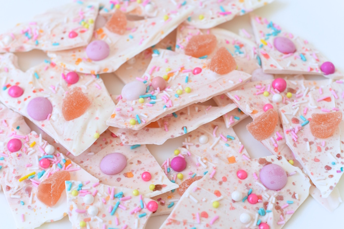 Candy bark from a Candy Parade Birthday Party on Kara's Party Ideas | KarasPartyIdeas.com (29)