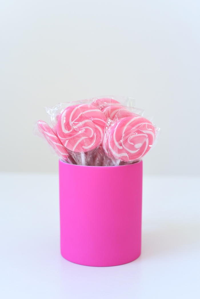 Pink lollipops from a Candy Parade Birthday Party on Kara's Party Ideas | KarasPartyIdeas.com (28)