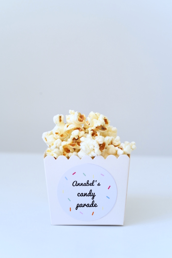 Popcorn from a Candy Parade Birthday Party on Kara's Party Ideas | KarasPartyIdeas.com (27)