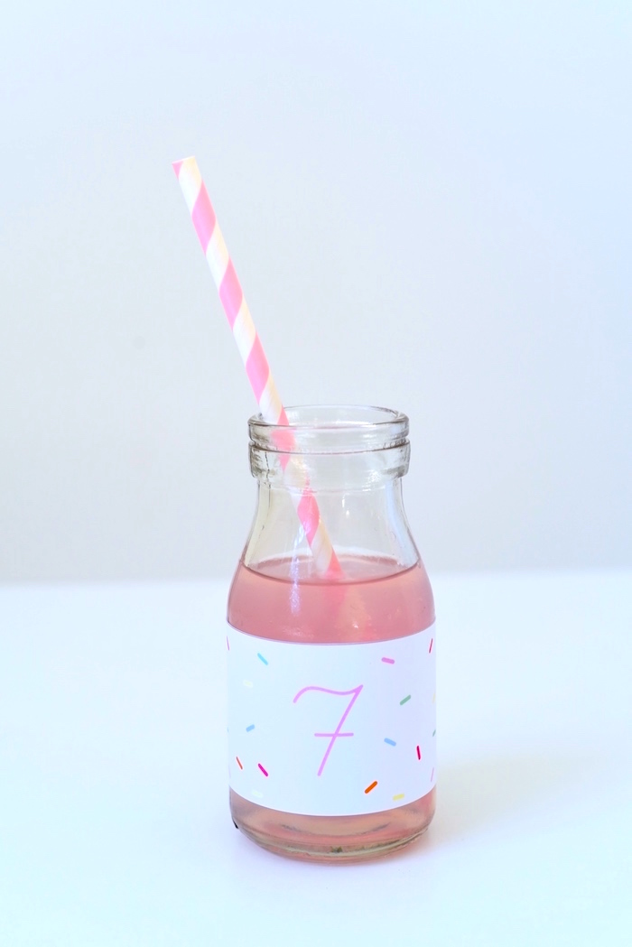 Drink bottle from a Candy Parade Birthday Party on Kara's Party Ideas | KarasPartyIdeas.com (26)