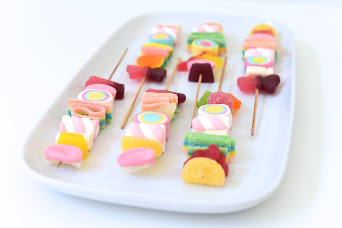 Candy kabobs from a Candy Parade Birthday Party on Kara's Party Ideas | KarasPartyIdeas.com (25)