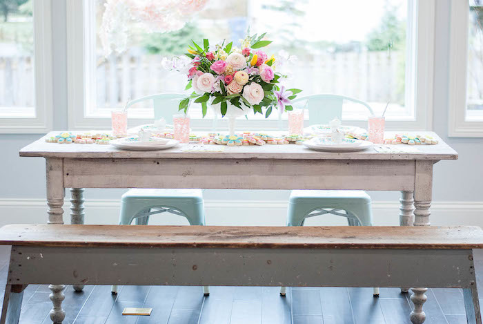 Guest table from a Colorful Garden Party on Kara's Party Ideas | KarasPartyIdeas.com (24)