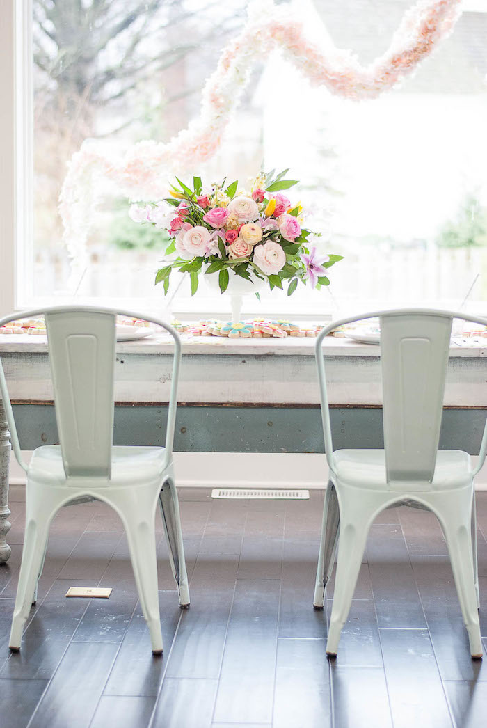 Guest table from a Colorful Garden Party on Kara's Party Ideas | KarasPartyIdeas.com (18)