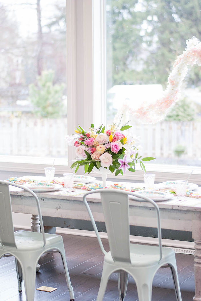 Guest table from a Colorful Garden Party on Kara's Party Ideas | KarasPartyIdeas.com (17)