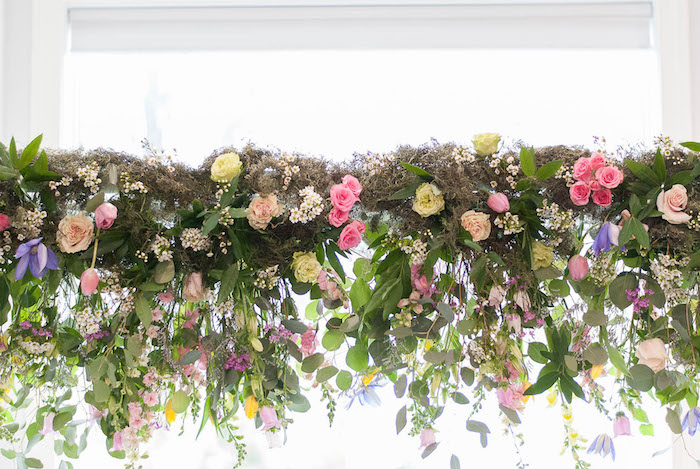 Flower arch from a Colorful Garden Party on Kara's Party Ideas | KarasPartyIdeas.com (35)