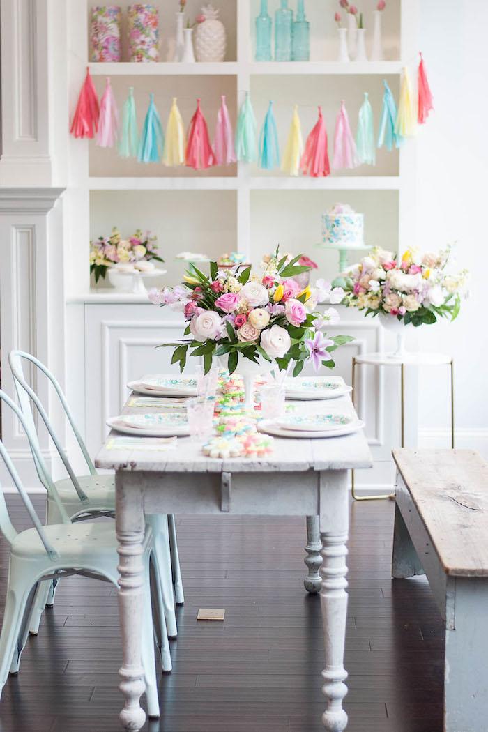 Colorful Garden Party on Kara's Party Ideas | KarasPartyIdeas.com (15)