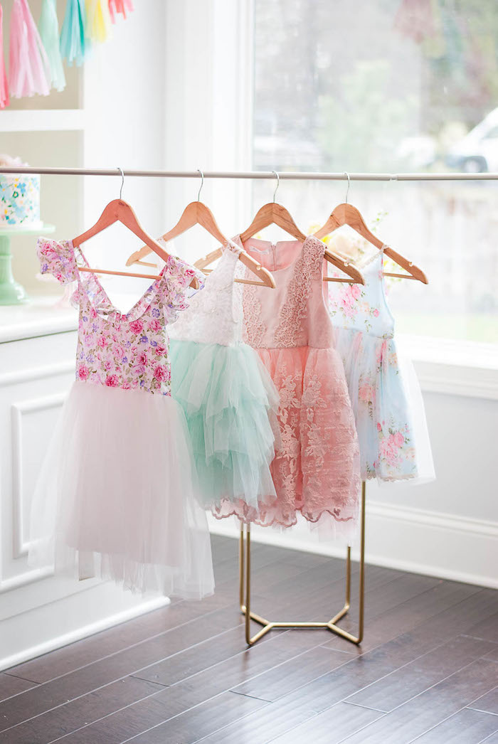 Frilly dresses from a Colorful Garden Party on Kara's Party Ideas | KarasPartyIdeas.com (11)
