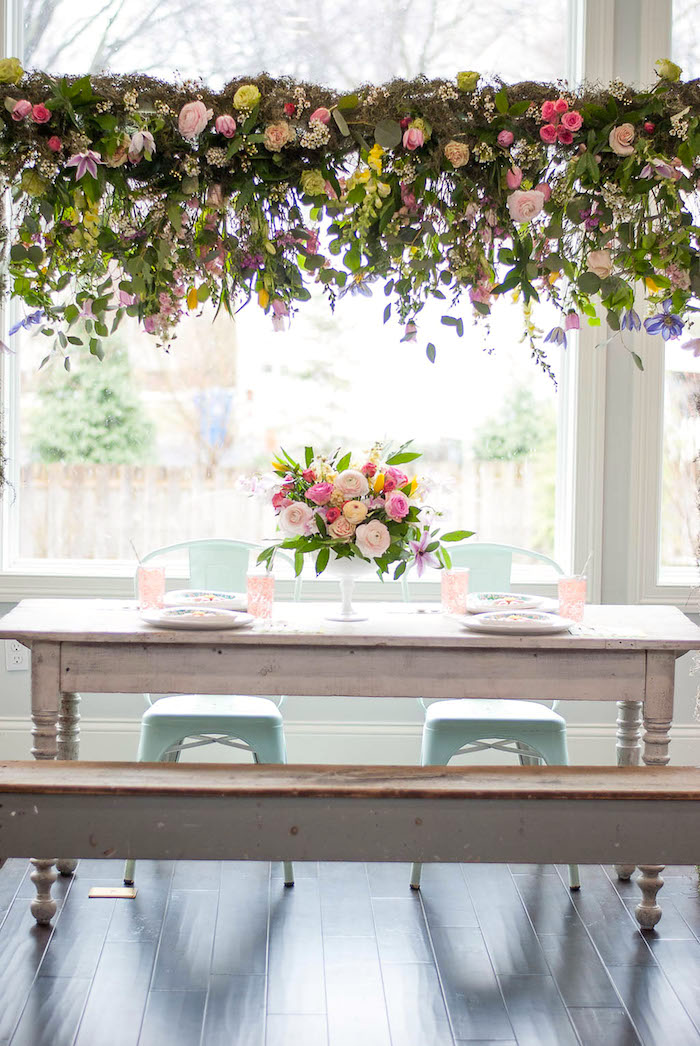 Guest table from a Colorful Garden Party on Kara's Party Ideas | KarasPartyIdeas.com (6)