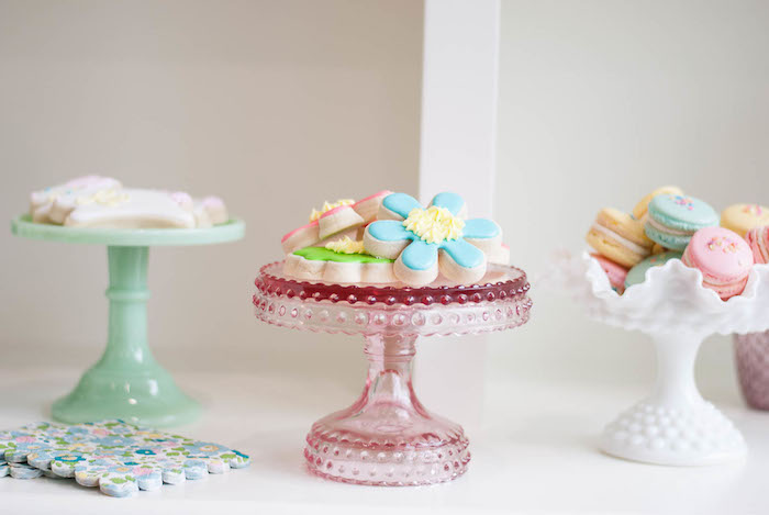 Sweet display from a Colorful Garden Party on Kara's Party Ideas | KarasPartyIdeas.com (32)