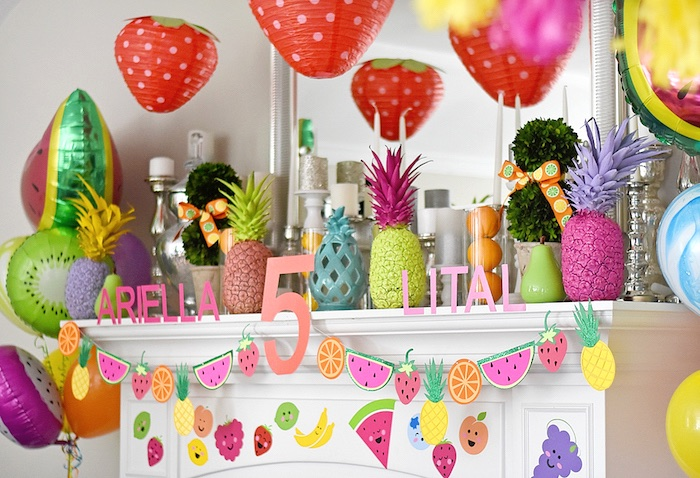 Decor from a Colorful Tutti Frutti Birthday Party on Kara's Party Ideas | KarasPartyIdeas.com (29)