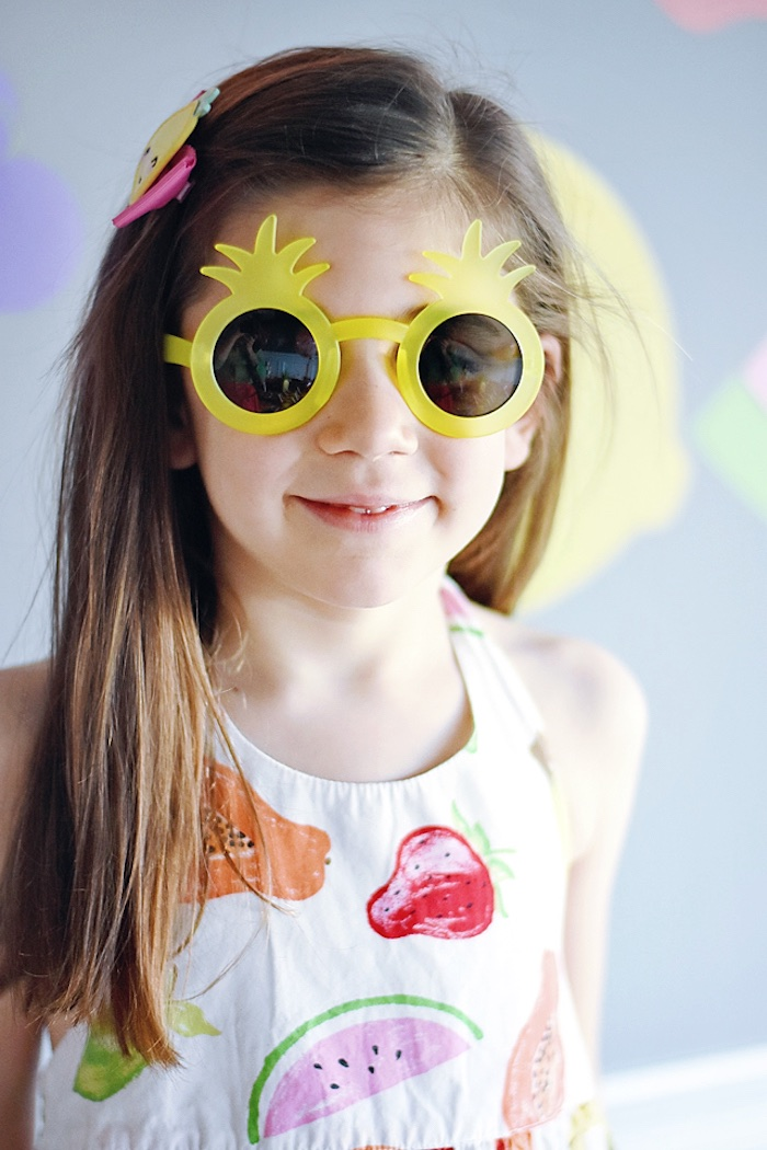 Pineapple sunnies from a Colorful Tutti Frutti Birthday Party on Kara's Party Ideas | KarasPartyIdeas.com (38)
