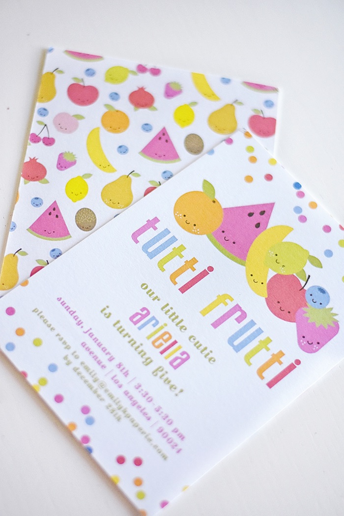 Tutti Frutti Party Invite from a Colorful Tutti Frutti Birthday Party on Kara's Party Ideas | KarasPartyIdeas.com (7)