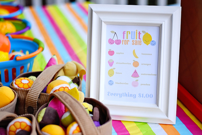Party signage from a Colorful Tutti Frutti Birthday Party on Kara's Party Ideas | KarasPartyIdeas.com (6)