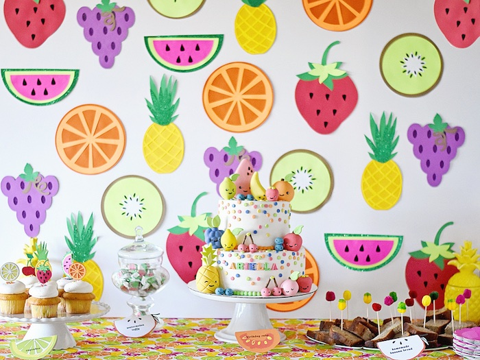 Colorful Tutti Frutti Birthday Party on Kara's Party Ideas | KarasPartyIdeas.com (36)