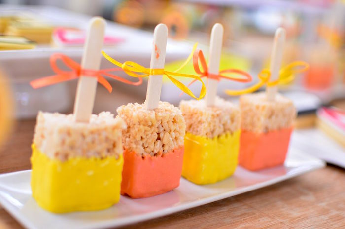 Construction-inspired Rice Krispie Treats from a Construction Birthday Party on Kara's Party Ideas | KarasPartyIdeas.com (26)