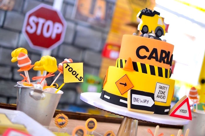 Construction Signs Birthday Party - Best Birthday Cake 2018