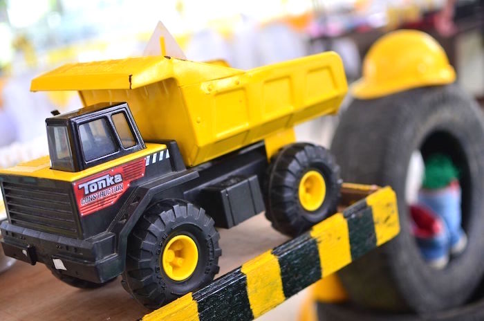 Dump truck from a Rough and Tumble Construction Birthday Party on Kara's Party Ideas | KarasPartyIdeas.com (13)