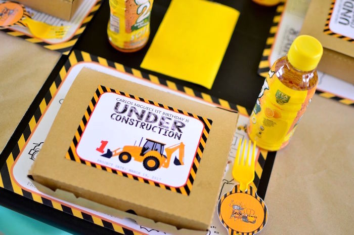 Under construction lunch box from a Construction Birthday Party on Kara's Party Ideas | KarasPartyIdeas.com (11)