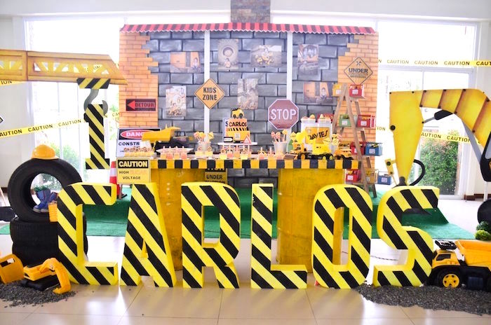 Rough and Tumble Construction Birthday Party on Kara's Party Ideas | KarasPartyIdeas.com (39)