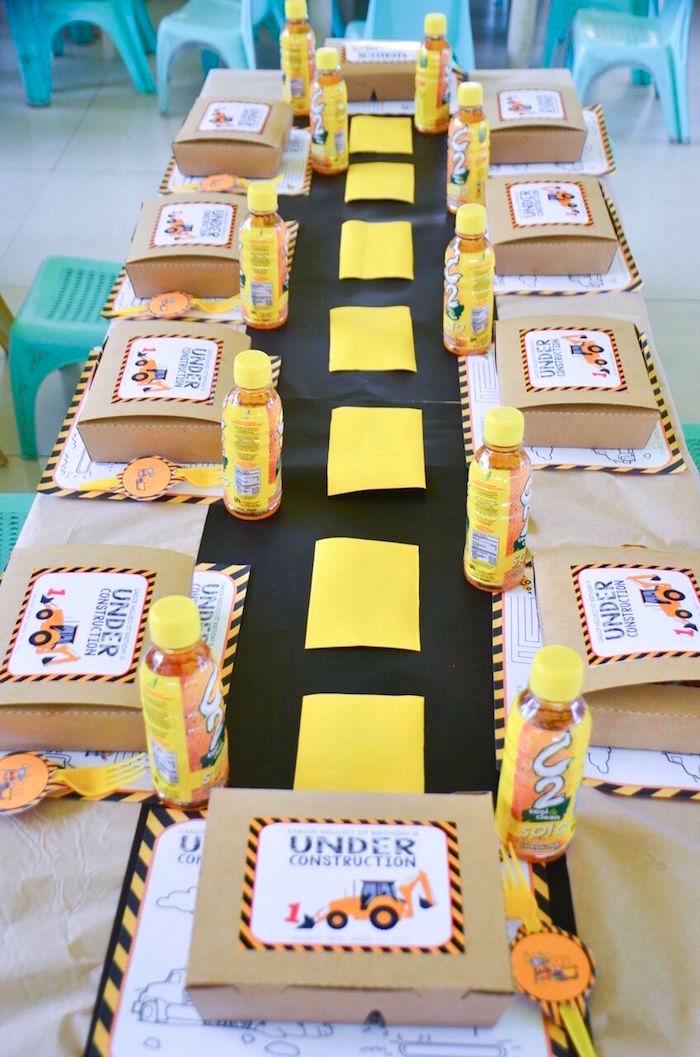 Kara S Party Ideas Rough And Tumble Construction Birthday