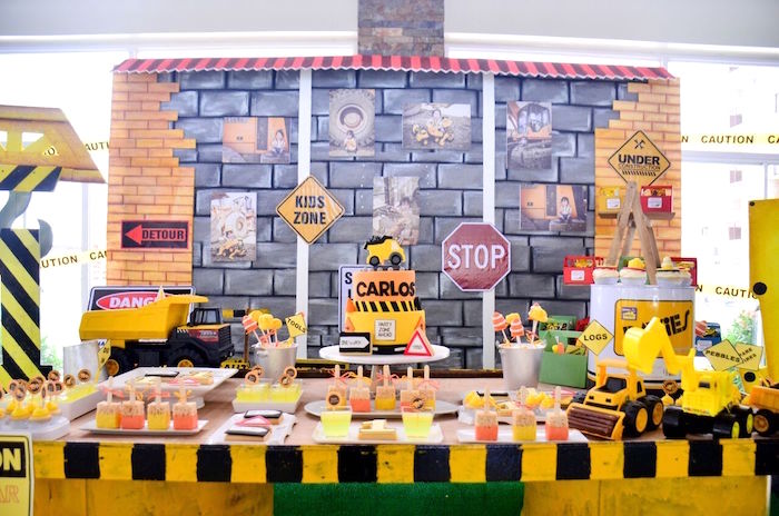 Construction dessert table from a Construction Birthday Party on Kara's Party Ideas | KarasPartyIdeas.com (35)