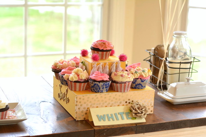 Cupcakes from a Cupcake Wars Birthday Party on Kara's Party Ideas | KarasPartyIdeas.com (15)