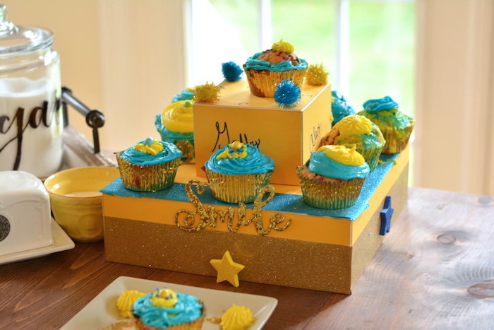 Cupcakes from a Cupcake Wars Birthday Party on Kara's Party Ideas | KarasPartyIdeas.com (14)