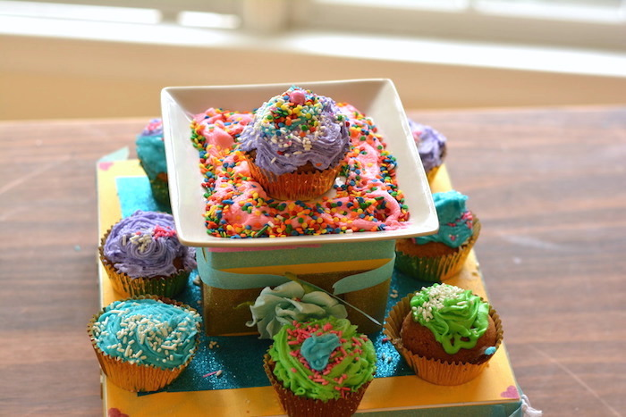 Cupcakes from a Cupcake Wars Birthday Party on Kara's Party Ideas | KarasPartyIdeas.com (13)