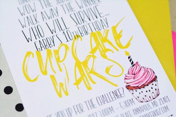 Cupcake Wars Birthday Party on Kara's Party Ideas | KarasPartyIdeas.com (12)