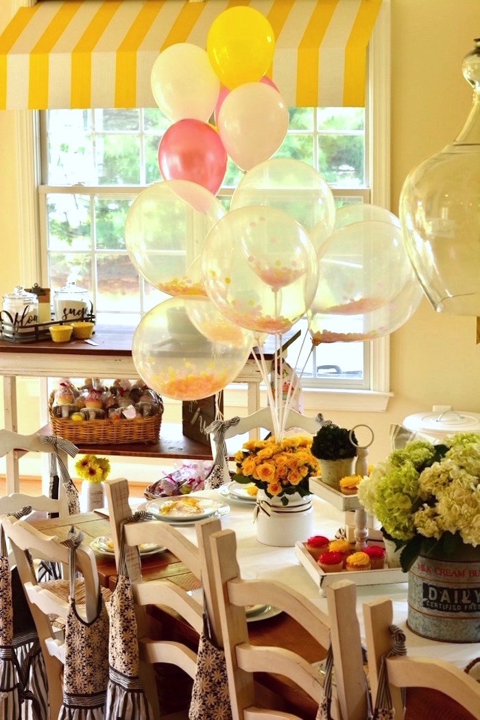 Guest table from a Cupcake Wars Birthday Party on Kara's Party Ideas | KarasPartyIdeas.com (27)