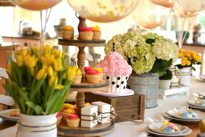 Decor from a Cupcake Wars Birthday Party on Kara's Party Ideas | KarasPartyIdeas.com (21)