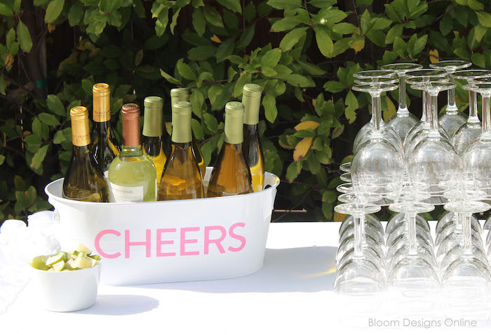 Cheers drink table from a Donut Forget About Me Graduation Party on Kara's Party Ideas | KarasPartyIdeas.com (10)