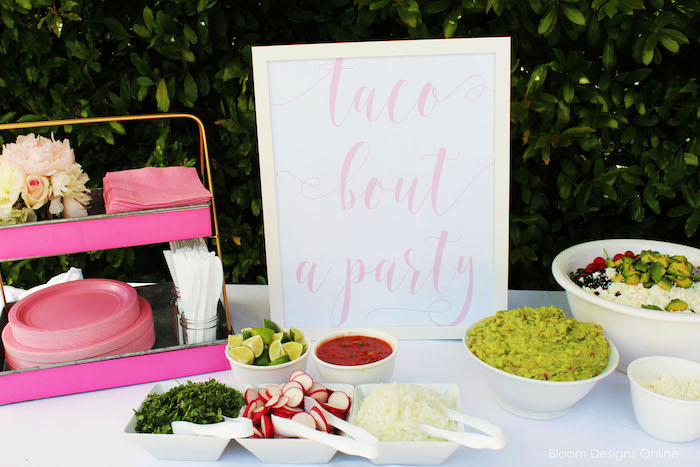 'Taco Bout a Party' bar from a Donut Forget About Me Graduation Party on Kara's Party Ideas | KarasPartyIdeas.com (9)