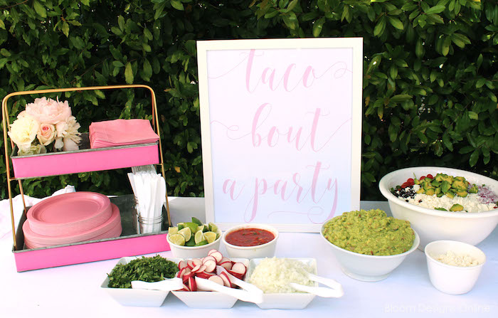 'Taco Bout a Party' bar from a Donut Forget About Me Graduation Party on Kara's Party Ideas | KarasPartyIdeas.com (8)