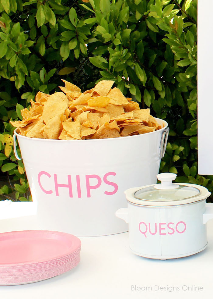 Chips and Queso from a Donut Forget About Me Graduation Party on Kara's Party Ideas | KarasPartyIdeas.com (25)