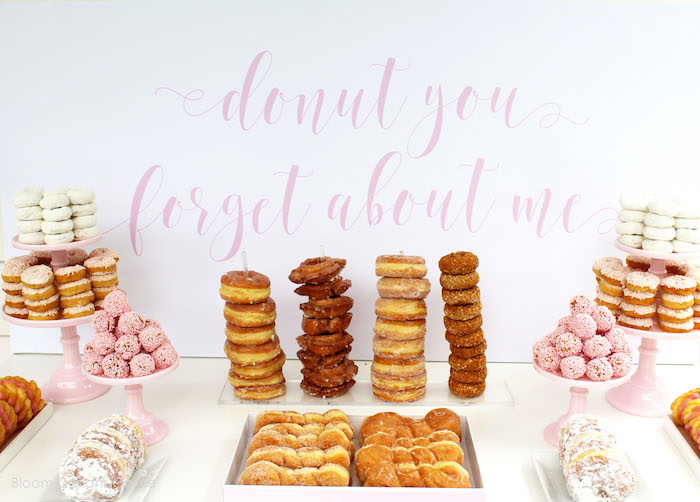 Donuts from a Donut Forget About Me Graduation Party on Kara's Party Ideas | KarasPartyIdeas.com (21)