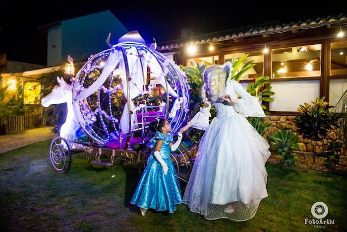 Magical Carriage from a Dreamy Cinderella Birthday Party on Kara's Party Ideas | KarasPartyIdeas.com (16)