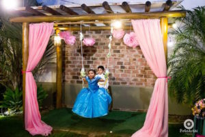 Swing from a Dreamy Cinderella Birthday Party on Kara's Party Ideas | KarasPartyIdeas.com (12)