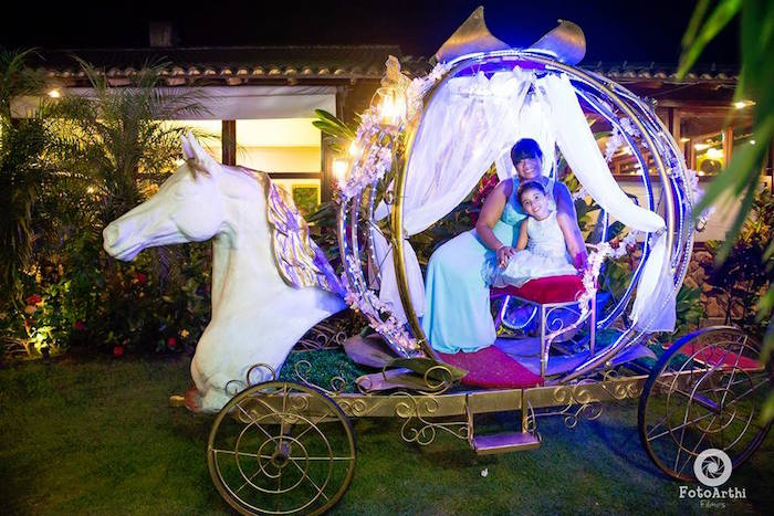 Magical carriage from a Dreamy Cinderella Birthday Party on Kara's Party Ideas | KarasPartyIdeas.com (11)