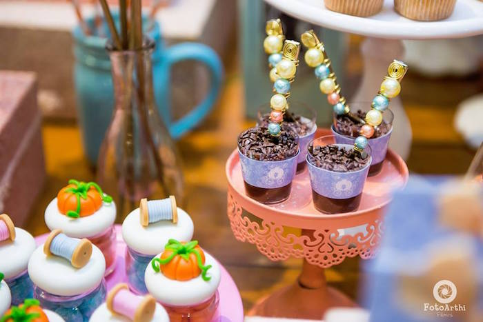 Cinderella-inspired favor jars and dessert cups from a Dreamy Cinderella Birthday Party on Kara's Party Ideas | KarasPartyIdeas.com (9)
