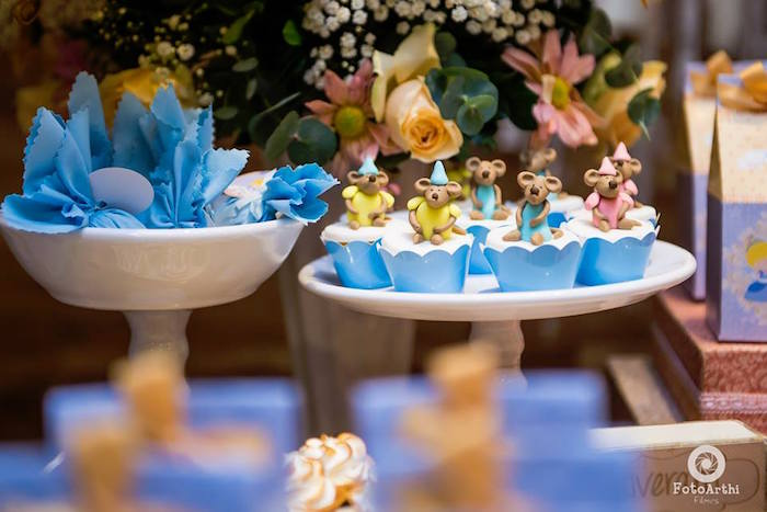 Cinderella Mice Cupcakes from a Mouse cupcakes from a Dreamy Cinderella Birthday Party on Kara's Party Ideas | KarasPartyIdeas.com (8)