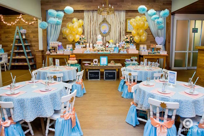 Cinderella party spread from a Dreamy Cinderella Birthday Party on Kara's Party Ideas | KarasPartyIdeas.com (7)