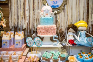 Carriage-topped Cinderella cake from a Dreamy Cinderella Birthday Party on Kara's Party Ideas | KarasPartyIdeas.com (23)