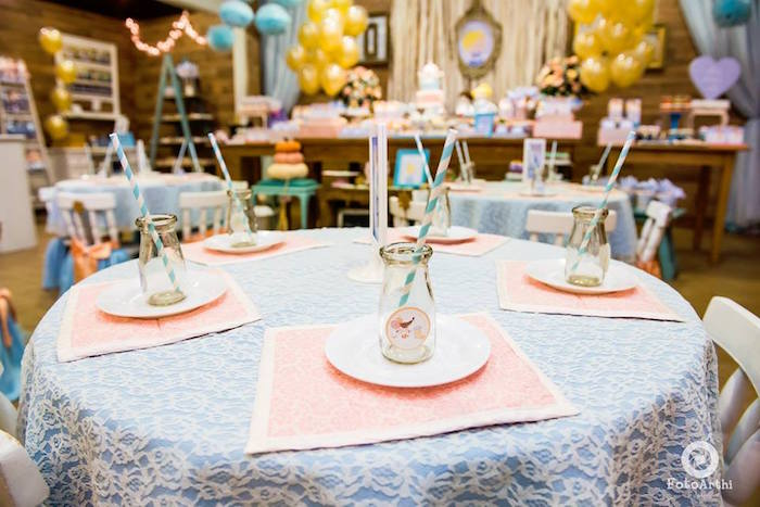 Cinderella guest table from a Dreamy Cinderella Birthday Party on Kara's Party Ideas | KarasPartyIdeas.com (18)