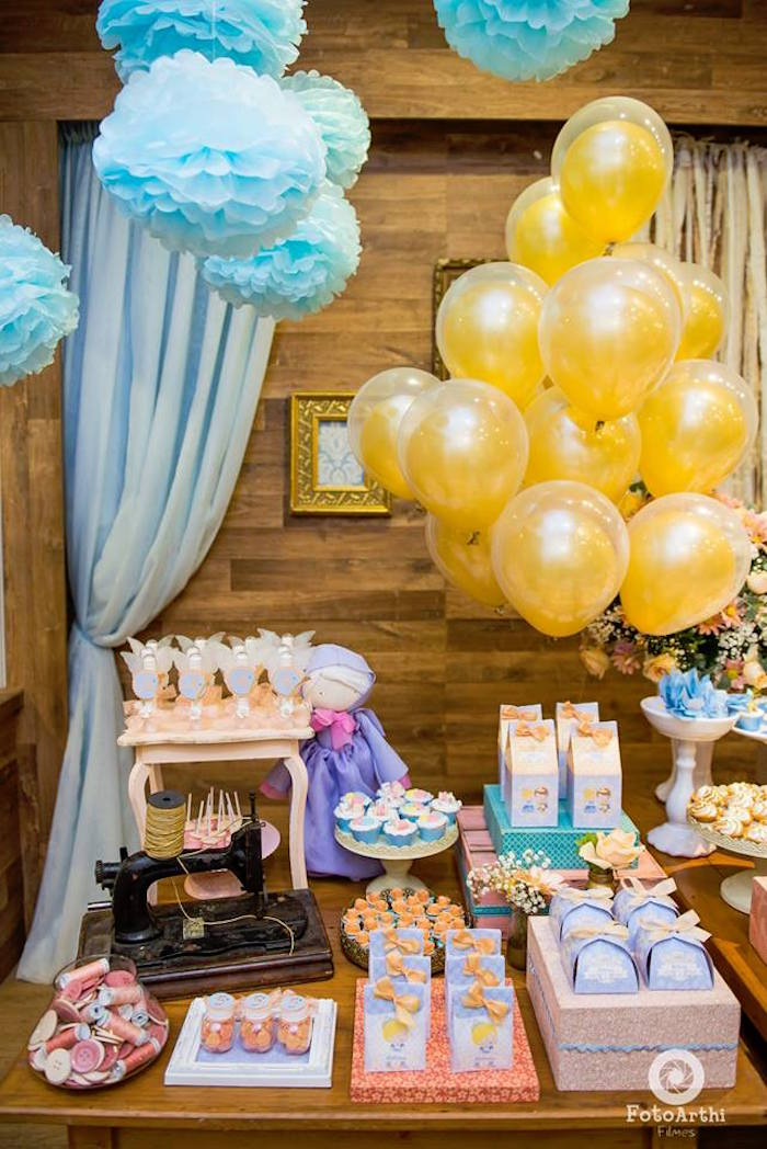 Dessert tablescape from a Dreamy Cinderella Birthday Party on Kara's Party Ideas | KarasPartyIdeas.com (17)