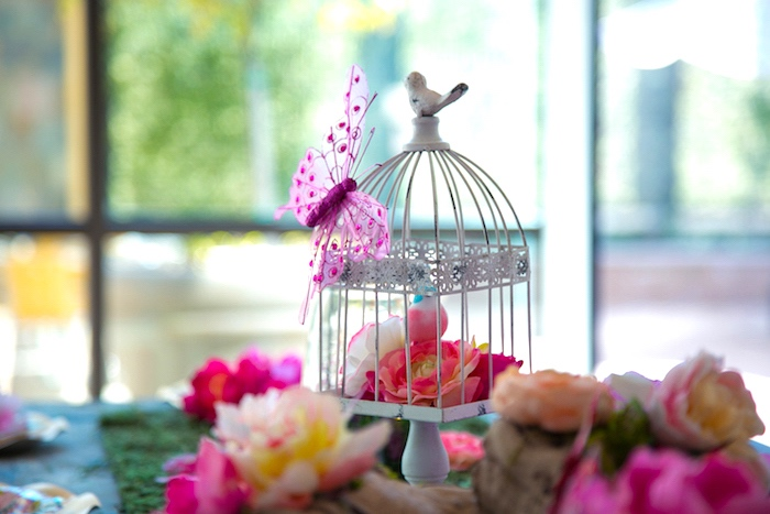 Cage of flowers from a Dreamy Midsummer Night Birthday Party on Kara's Party Ideas | KarasPartyIdeas.com (14)