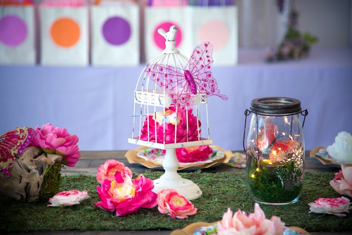 Centerpieces from a Dreamy Midsummer Night Birthday Party on Kara's Party Ideas | KarasPartyIdeas.com (12)