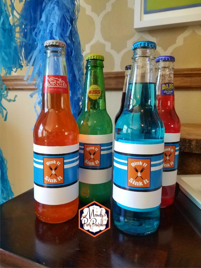 Drinks from Good Mythical Morning Inspired Birthday Party via Mandy's Party Printables via Kara's Party Ideas