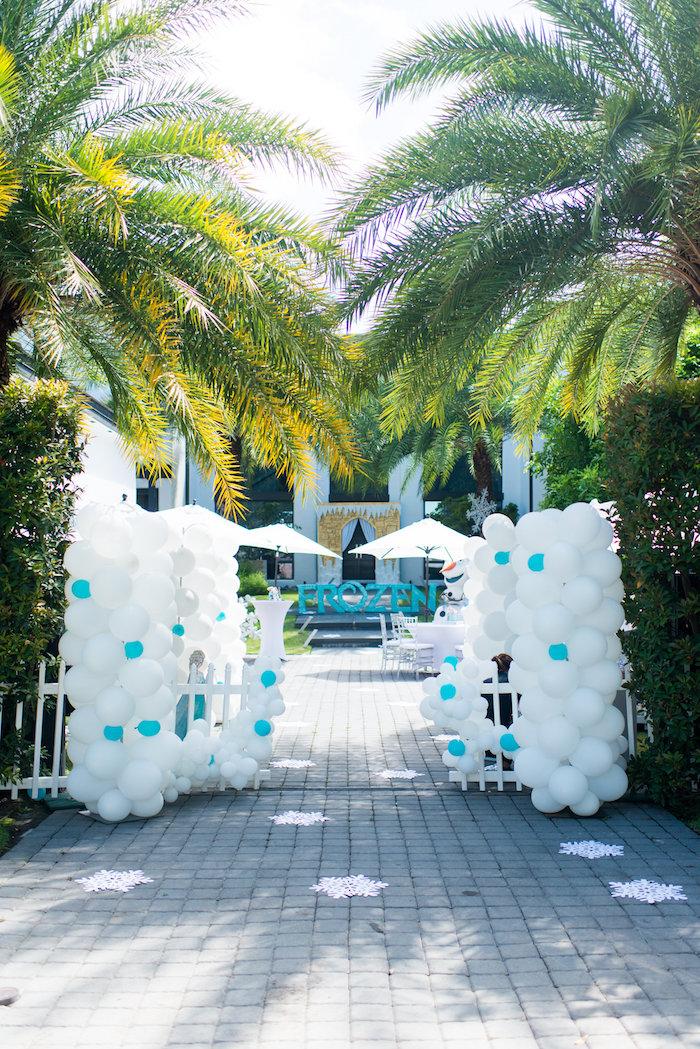 Balloon entrance from an Elegant Frozen Birthday Party on Kara's Party Ideas | KarasPartyIdeas.com (39)