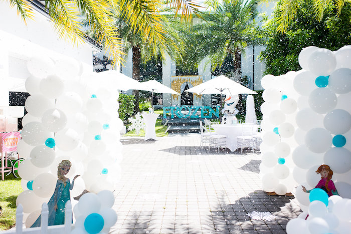 Partyscape from an Elegant Frozen Birthday Party on Kara's Party Ideas | KarasPartyIdeas.com (38)